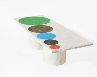 Coffee Table, 2012. Bisazza tiles. By Pierre Charpin.