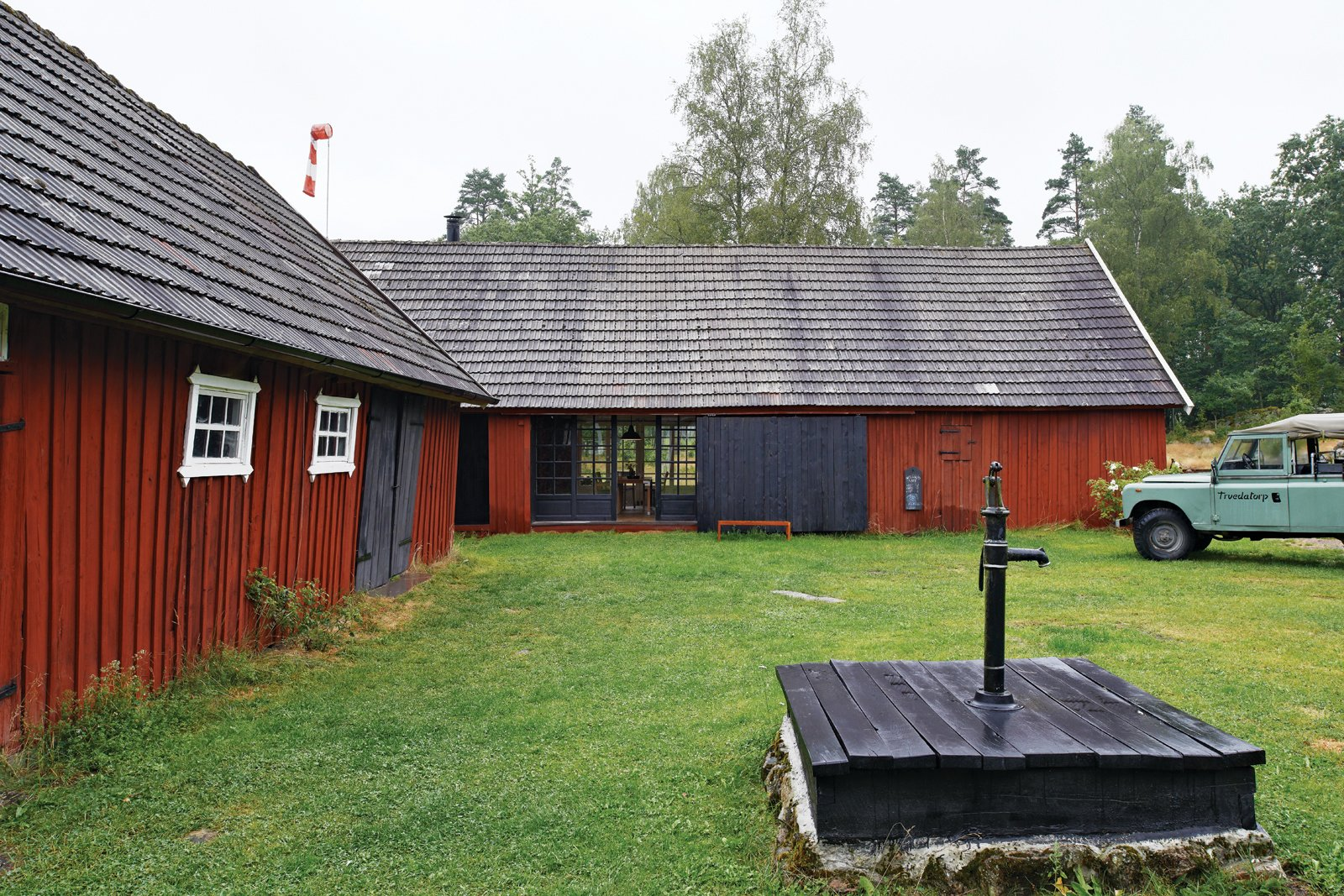 The simple, pared-down aesthetic and the open-ended time frame of the project—along with the couples' building and design skills—helped Odgård and Lyng Hansen achieve their renovation on a miniscule budget, with a project outline that ebbed and flowed with Odgård's professional successes in product design.  Photo 9 of 12 in Modern Meets Traditional in a Swedish Summer House