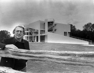 Portrait at The Atheneum in New Harmony, Indiana, taken in 1979. (Copyright Richard Meier & Partners)
