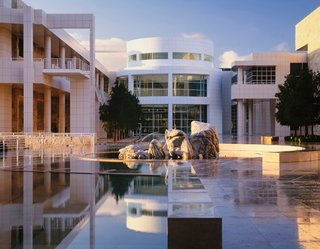 """The Getty Center, Los Angeles, 1984-97. (Copyright Scott Frances)<br><br>Oh, and about that signature shade of clear, bright white paint? It's made by Benjamin Moore and it's called Meier White. """"If I remember correctly,"""" Meier says, """"it came out around the time we were doing the Getty."""""""