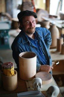 Joshua Vogel in his Hudson Valley, New York, studio.