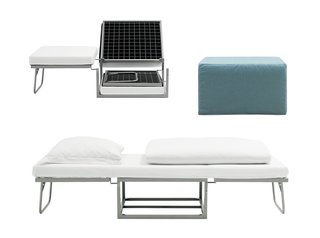 10 Functional Pieces For Small Space Living - Photo 5 of 11 - A guest bed in disguise, the Xtra ottoman is a functional footstool that can spring into action for overnight guests. Its small footprint makes it perfect for compact spaces.