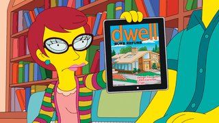 The Simpsons Meet Dwell - Photo 1 of 2 - The look of the Simpsons' neighborhood transitions wildly when new neighbors discover a forgotten Neutra, triggering a renovation craze. Their project is so successful that it's featured on the cover of Dwell.