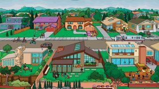 "The Simpsons Meet Dwell - Photo 2 of 2 - ""The show is a good fun-house mirror to society, in that it can reflect the world back onto itself in a new way."" —Matt Selman, executive producer, The Simpsons"