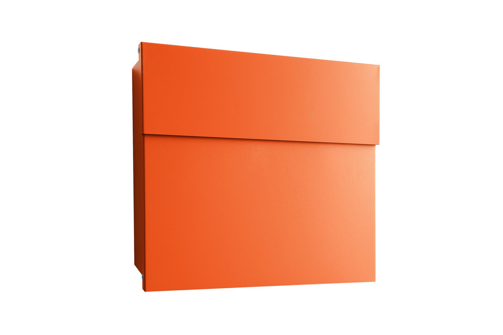 Outdoor and Front Yard Letterman IV in orange by Michael Rösing for Radius-Design, $225 (without post)-This best-selling model is made to meet the deutsche post standards, but we bet it would be equally suitable on this side of the pond.  Photo 1 of 6 in 8 Best Modern Mailboxes to Buy from Color Delivery