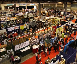 An aerial view of the Seattle Home Show.