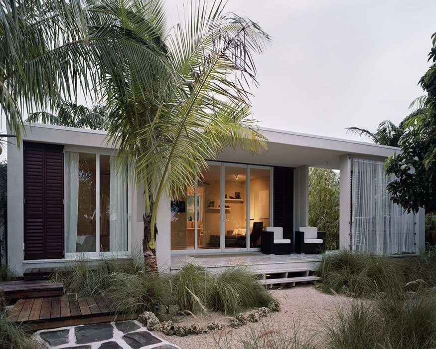 Exterior, Prefab Building Type, House Building Type, Flat RoofLine, and Glass Siding Material The starting price for a fully built 685-square-foot, two-bedroom Cubicco model in the Miami area is just over $115,000.  Photo 2 of 2 in Small, Green, and Mighty: Hurricane-Proof Prefab