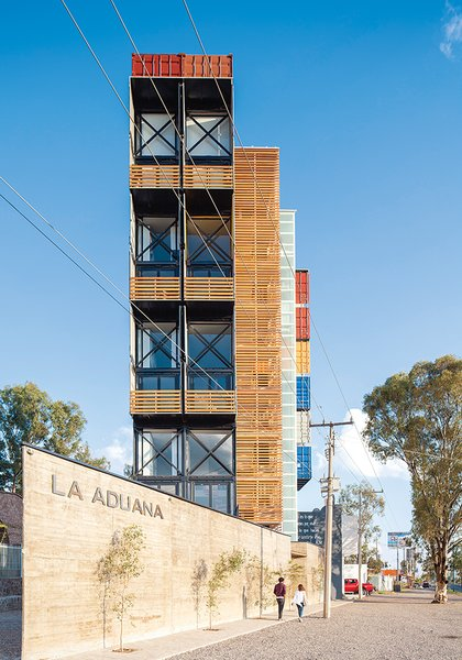 Adventurous Apartment Building Made of 36 Shipping Containers