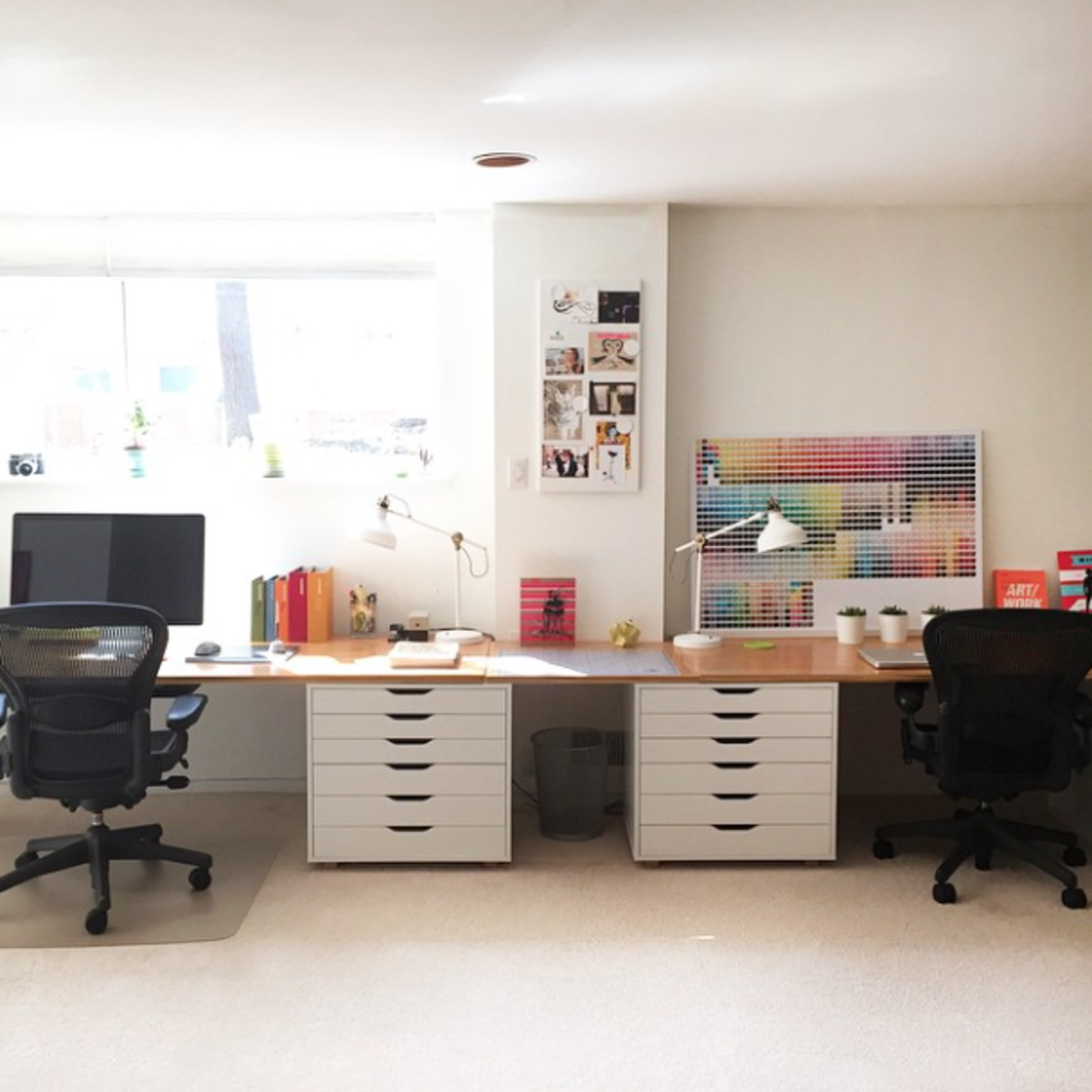 Photo of the Week: His and Hers Office Space