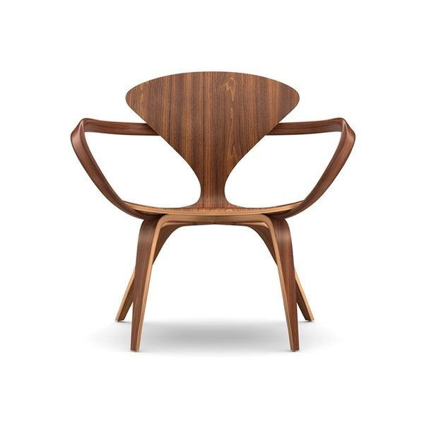 Connecticut. Benjamin Cherner reproduces the iconic designs of his father, Norman, for the Cherner Chair Company, based in Ridgefield, Connecticut. The furniture, like this lounge arm chair, sports organic shapes made in molded plywood with a natural walnut finish.  Photo 24 of 24 in A Cherner Chair Retrospective