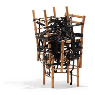 Relatives by Rasmus Bækkel Fex-A series of chairs combined in different ways to achieve different functions.