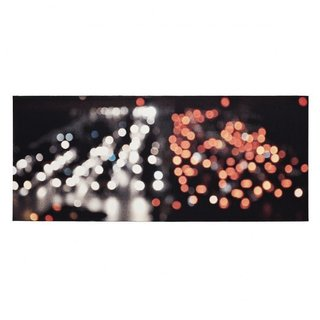 Rush Hour / Shanghai 5 by Grethe Sørensen-A tapestry made on a digital jacquard loom, based on video recordings of city lights in Shanghai.