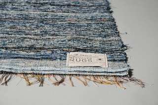 Scandinavian Rag Rugs Made from Recycled Denim