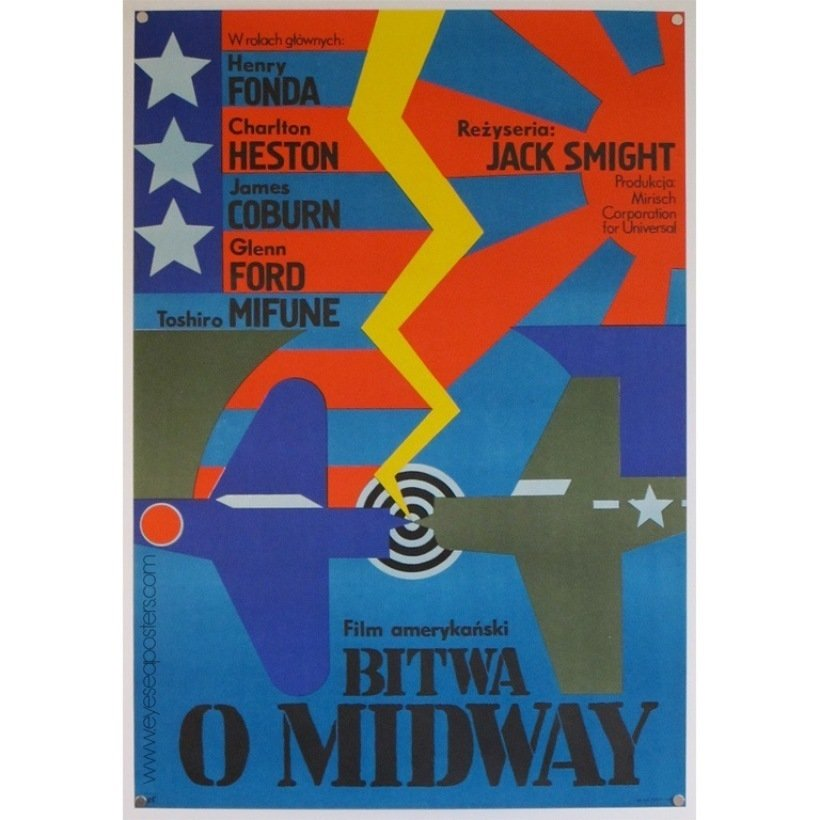 """""""Andrzej Krajewski's poster for Midway has a nice composition in his signature Art Deco style,"""" Dyer says. """"He's one of the few remaining Polish poster masters and still an active artist.""""  Photo 3 of 10 in 10 Posters from Poland's Golden Age of Graphic Design"""