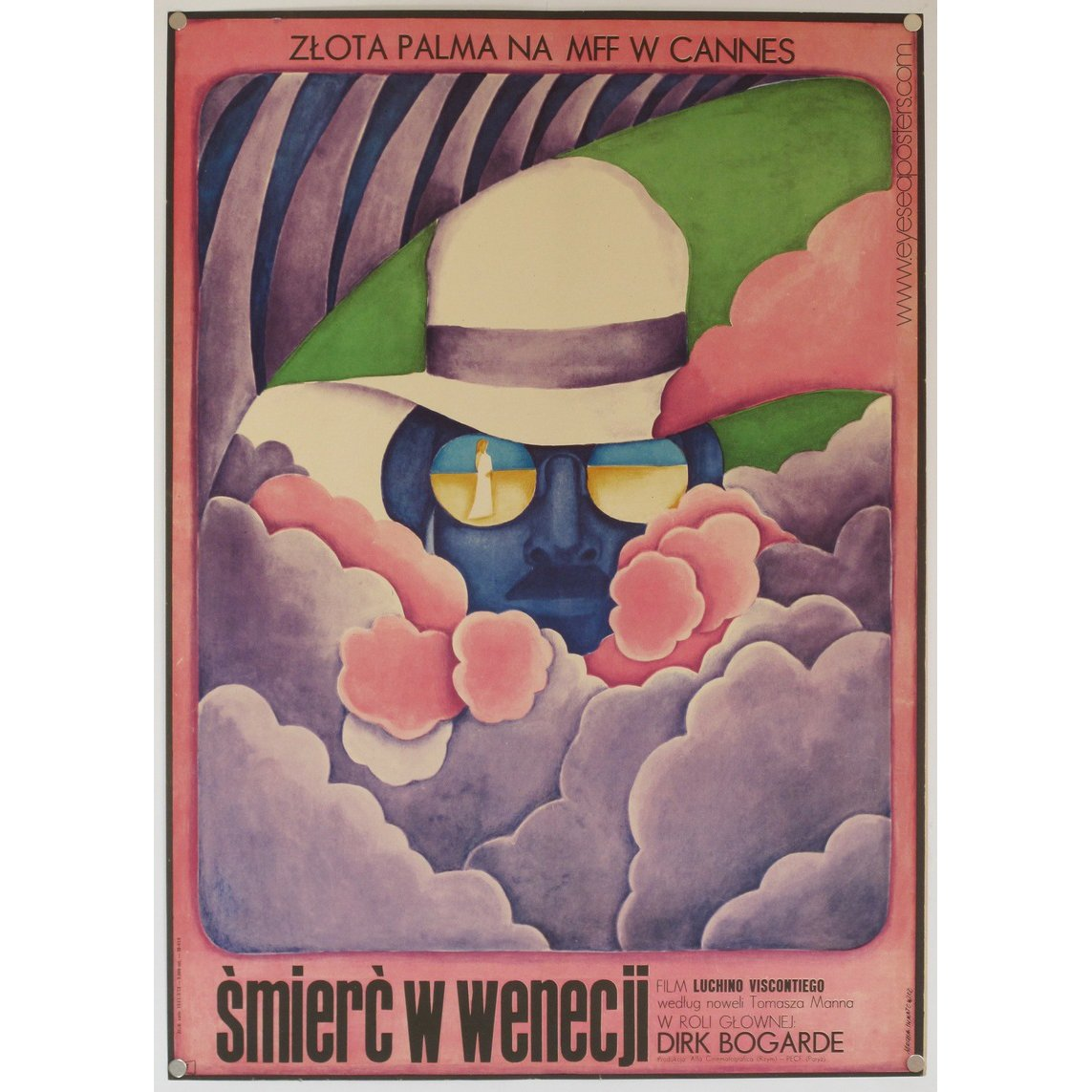 Smierc W Wenecji (Death in Venice), original Polish film poster by Maria Ihnatowicz c. 1971  Photo 7 of 10 in 10 Posters from Poland's Golden Age of Graphic Design