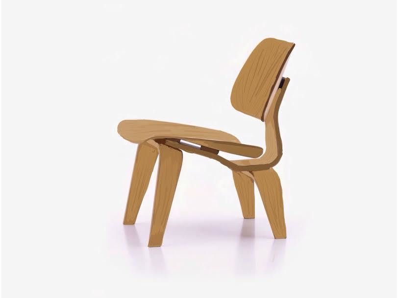 A Leg Splint Inspired Charles And Ray Eamesu0027 Famous Molded Plywood Lounge  Chair