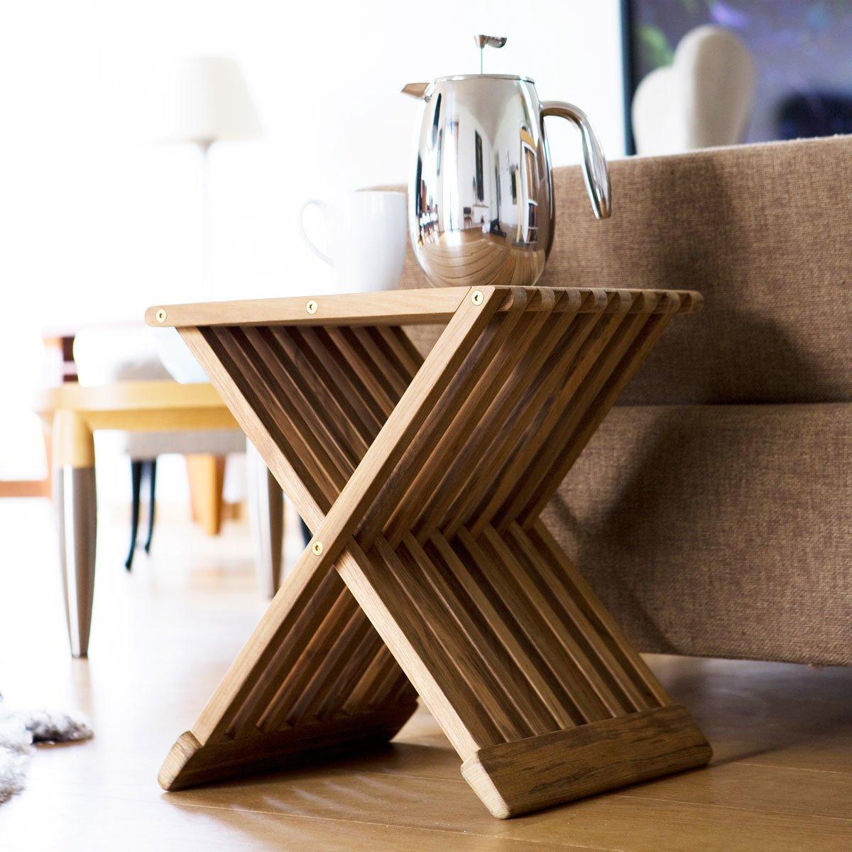 Skagerak Fionia Folding Stool/Table - Black Stained Oak by HORNE - Dwell