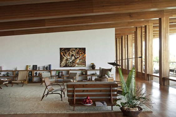 Most of the furniture in the lobby came from local antique shops, which yielded great pieces from the late 60s to mid-70s.  Photo 4 of 8 in Destination of the Week: São Paulo