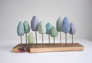 Who wouldn't want a happy little grove of pastel trees on their mantel or shelf?