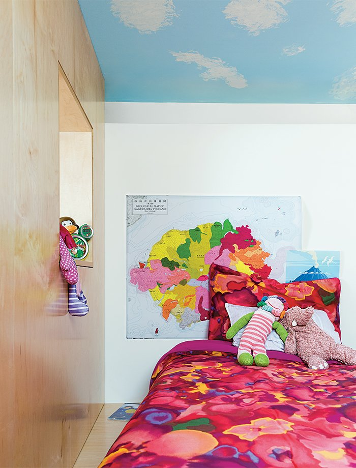 The organic bedding is from The Canopy. Tagged: Kids Room, Bedroom, Girl Gender, Pre-Teen Age, and Bed.  Photo 8 of 12 in Sustainability Guided Every Decision at this Town House Remodel in Harlem