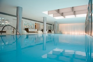 At the hotel's spa, My Blend by Clarins, guests can blissfully lounge and take a dip at the 23 meter swimming pool, the longest ever built in a Paris luxury hotel.
