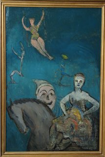 Peru Community Schools Art Gallery: The G. David Thompson Collection - Photo 1 of 7 - Circus Performance, oil by Milton Avery— Today G. David Thompson's art collection would be worth upwards of $350 million.