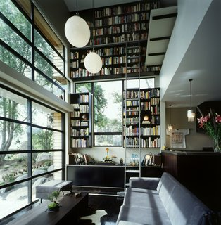 This Japanese-Style Box Home Boasts a Two-Story Bookcase - Photo 1 of 7 -