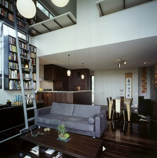 This Japanese-Style Box Home Boasts a Two-Story Bookcase - Photo 2 of 7 -