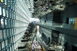 Reykjevik's magnificent Harpa Conference Center hosted many of the events. Photo by: Tiffany Orvet