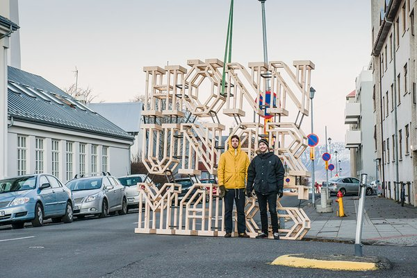 "The festival's branding was well done and well used. Graphic designers Jónas Valtysson and Ármann Agnarsson created large wooden architectural letters spelling out 'HönnunarMars' (Icelandic for DesignMarch).  The letters were photographed around Reykjavik to promote the festival and its many events. ""In our view, DesignMarch is like an empty canvas set up for the local designers to draw on. We took that quite literally,"" said the duo behind the design. Photo by: Marino Thorlacius"