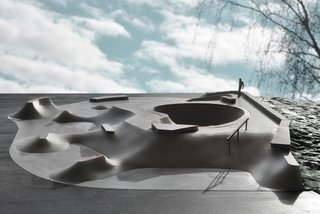 The massive Moon skate park will be part of a big multipark in Leppävaara, Espoo in Finland. It is made out of concrete, granite and steel and is a mixture of soft crater shaped transitions and common street obstacles. Construction is estimated to be ready in Autumn 2013.