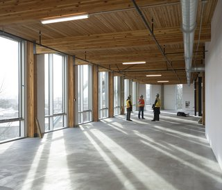 The six-story, 50,000 square-foot structure is the largest building to adopt the Living Building Challenge standards. Photo credit: Brad Kahn