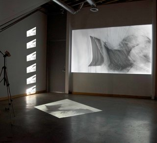 A Home, Studio, and Gallery Support a Growing Art Scene in Georgia - Photo 11 of 12 - A new Lightroom exhibit by multimedia artist Bojana Ginn is set to open at the end of January 2016. Here, a three-channel video installation reinterprets the act of drawing through a new medium.