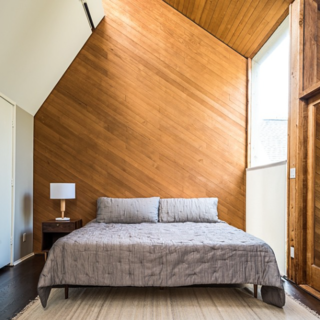 Photo of the Week: Angled Wood Bedroom - Photo 1 of 1 -