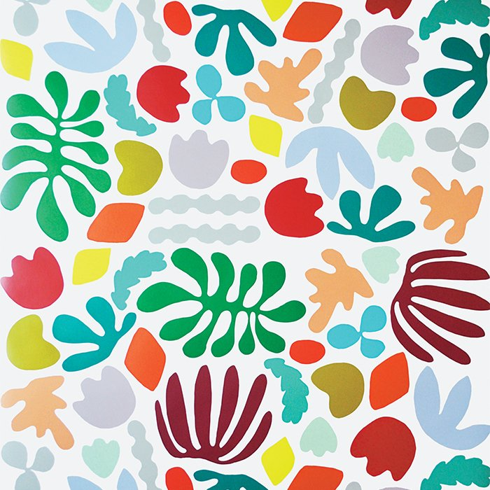 Washington, D.C.  Matisse Is My Muse wallpaper by Kate Zaremba, $27–$108 per roll The whimsical botanical motif is digitally printed on FSC-certified paper with water-based ink. A longtime renter, Zaremba designed the wallpaper to be removable, and the PVC-free adhesive won't damage surfaces.  Photo 21 of 42 in Wallpaper That Fixes Walls