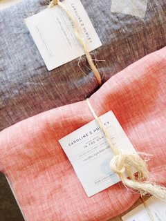 Shops We Love: Nora, Detroit - Photo 4 of 4 - These linens are by Brooklyn-based designer Caroline Z. Hurley.