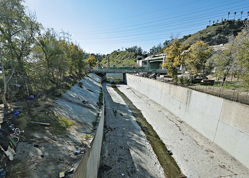 The Army Corps of Engineers has endorsed a $1 billion plan to revive an 11-mile stretch of the Los Angeles River by restoring natural features that were lost when the waterway was turned into a drainage channel in the 1930s.  Photo 2 of 5 in Can Neglected Urban Waterways Like the Los Angeles River Become Thriving Greenways?