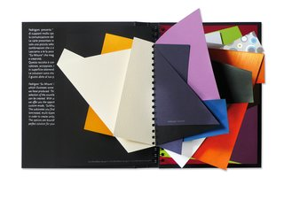Moleskine Detour: Q&A with Ginette Caron - Photo 1 of 2 - Limited edition Fedrigoni special papers sample book.