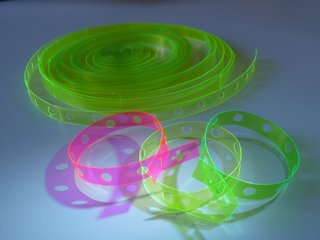 Moleskine Detour: Q&A with Ginette Caron - Photo 2 of 2 - Neon rosary bracelets.