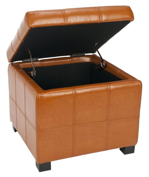 When you live in a small space it's important to make sure that as many pieces of furniture as possible serve multiple purposes. Look for an ottoman that can double as a foot stool, extra seat, or storage container. In addition, some ottomans have a lid that can be flipped around to serve as a hard surface on which to serve drinks or food.