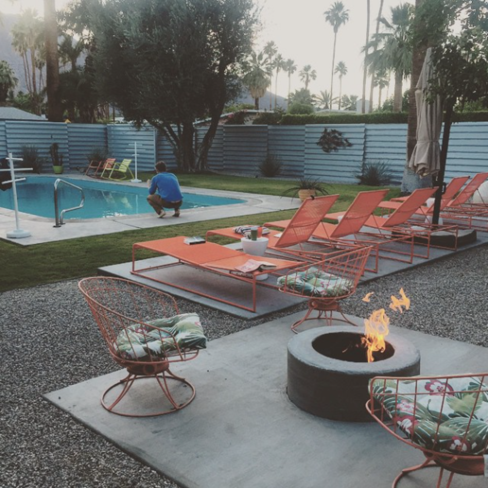 Photo Of The Week Colorful Outdoor Lounge Chairs