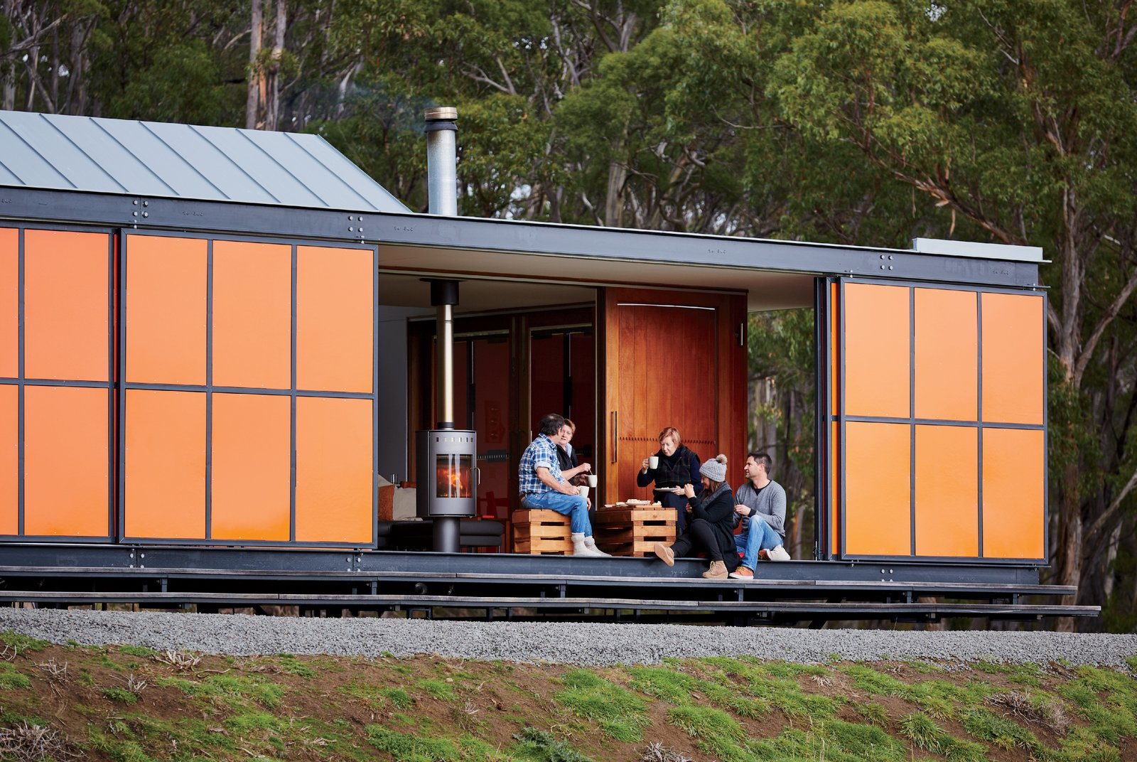 An Off-the-Grid Prefab that Combines Open Plan Living with Rugged Durability