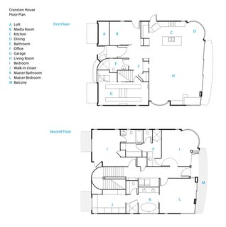 The renovated beach house's floor plans.