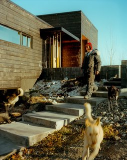 Leap Into the Year of the Dog With These 25 Pups in the Modern World - Photo 25 of 25 - Perched on top of a hill, the house is accessed by a long staircase that runs up to the exterior courtyard. The dogs, naturally, take their own route.