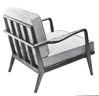 Mid-Century Designer Focus: Mel Smilow - Photo 5 of 7 - The WAC-33 Rail Back lounge chair featured removable cushion covers to enhance longevity. Reupholstering is expensive, so Smilow- Thielle designed covers to allow consumers to easily refresh the piece. Photo courtesy of the Smilow Family.