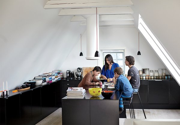 A Cramped Attic Became a Sunny Dining Room in this Renovation of a Copenhagen Tudor