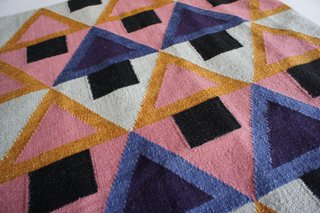 """Morgan"" flatweave rug in wool and cotton, designed by Aelfie and made in India. ($195-$455)"