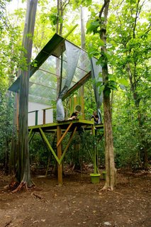 Tree House Retreat Made of Repurposed Materials - Photo 1 of 5 -