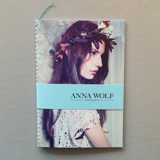 Photographer Anna Wolf created this beautiful small promo book that drove us to her website wanting to see more.