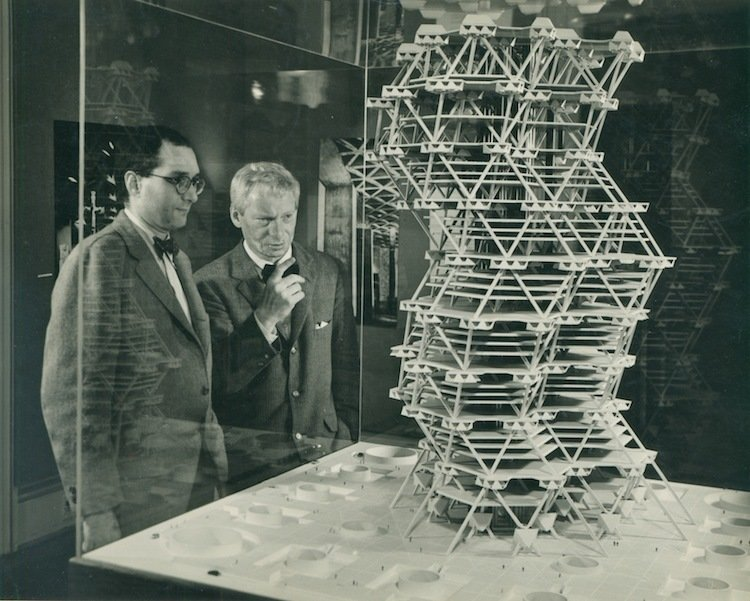 City Tower Project (Philadelphia, Pennsylvania: Unbuilt)  While Kahn's tetrahedron tower was never realized, his inventive suggestion of stacking pieces of precast concrete, a new typology of high-rise design, influenced future modular projects.  Photo 7 of 10 in Design Icon: 9 Buildings by Louis Kahn